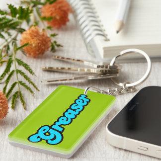 Greaser Logo Single-Sided Rectangular Acrylic Keychain