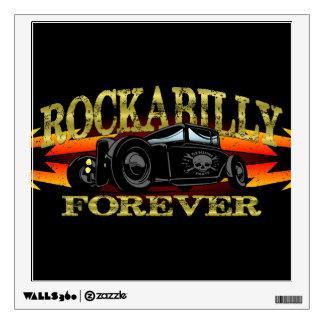 Greaser Rockabilly Hot Rod Wall Sticker