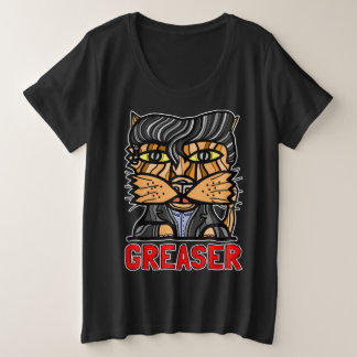 """Greaser"" Women's Plus-Size T-Shirt"