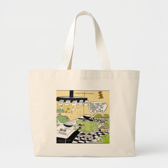 Greasy Spoon For Frogs Funny Gifts & Cards Large Tote Bag