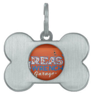 Greasy Wrench Pet ID Tag