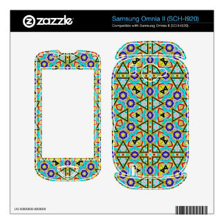 Great abstract pattern samsung omnia II decal
