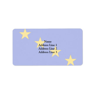 Great Admiral Of The Regia Marina, Italy flag Personalized Address Label