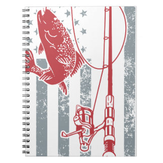 Perfect Great American Flag Fishing Shirts For July 4th Notebook