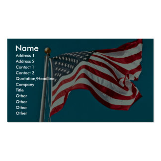 Great American flag flying Business Card Template