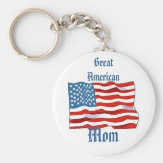 Great American Mom keychain