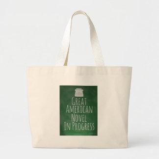 Great American Novel in Progress Large Tote Bag