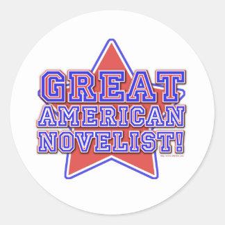 Great American Novelist Classic Round Sticker