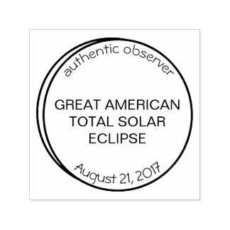 Great American Solar Eclipse Authentic Observer Self Inking Stamp