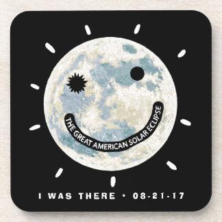 Great American Solar Eclipse Moon Emoji Coaster