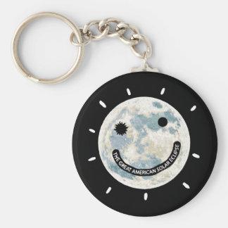 Great American Solar Eclipse Moon Emoji Keychain
