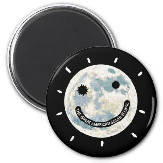 Great American Solar Eclipse Moon Emoji Magnet