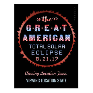 Great American Total Solar Eclipse August 21 2017 Postcard