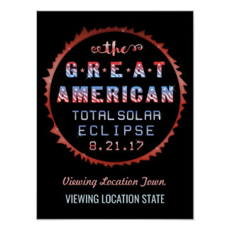 Great American Total Solar Eclipse August 21 2017 Poster