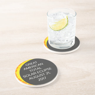 Great American Total Solar Eclipse customizable Coaster