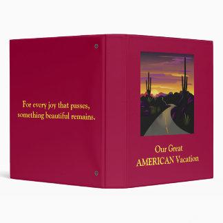 Great American Vacation Binder/Photo Book Binder