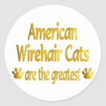 Great American Wirehair Classic Round Sticker