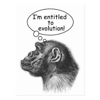 Great Ape Evolution Entitlement Postcard