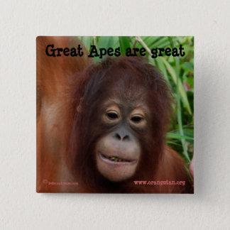 Great Ape Fan Button