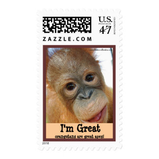 Great Ape Orangutan Conservation Postage