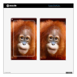 Great Ape Orangutan Wildlife Animal-Lovers Decal For Kindle Fire