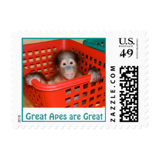 Great Apes are Great! Stamp