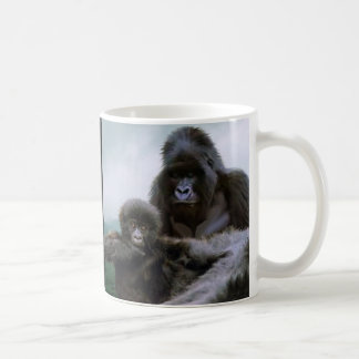GREAT APES Mountain Gorilla & Baby Gorilla Coffee Mugs