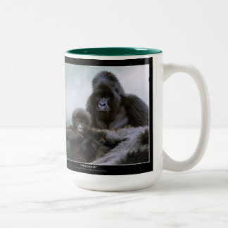 Great Apes Mountain Gorilla & Baby Gorilla Two-Tone Coffee Mug