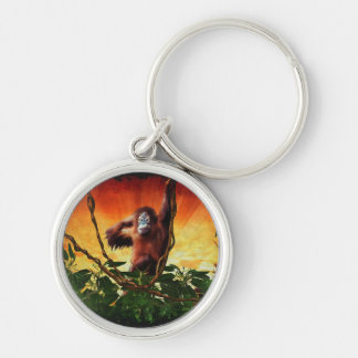 Great Apes Orangutan Primate Wildlife Keychain