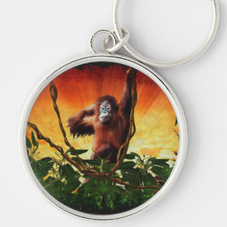 Great Apes Orangutan Primate Wildlife-lovers Gift Keychain