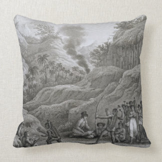 Great Asian Archipelago: French explorers with nat Throw Pillow