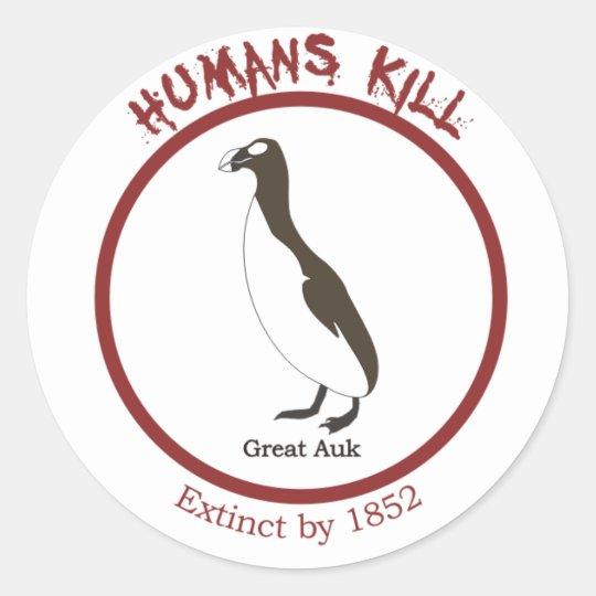 Great Auk Classic Round Sticker