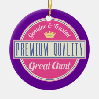 Great Aunt (Funny) Gift Double-Sided Ceramic Round Christmas Ornament