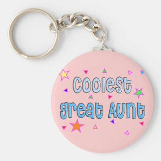 Great Aunt Gifts Basic Round Button Keychain