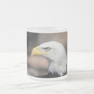 Great Bald Eagle 10 Oz Frosted Glass Coffee Mug