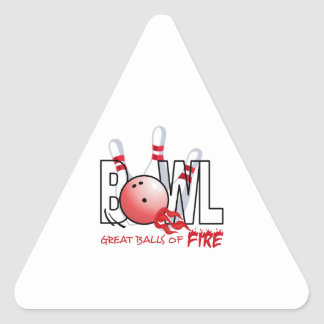 GREAT BALLS OF FIRE TRIANGLE STICKER