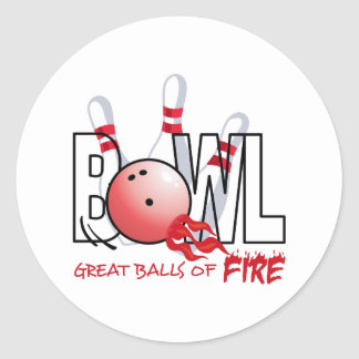 GREAT BALLS OF FIRE ROUND STICKERS