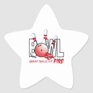 GREAT BALLS OF FIRE STAR STICKERS