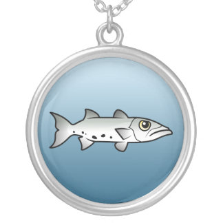 Great Barracuda Round Pendant Necklace