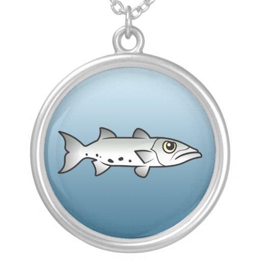 Great Barracuda Round Pendant Necklace
