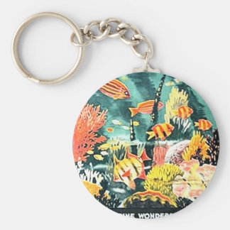 Great barrier coral reef keychain
