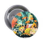 Great barrier coral reef pinback button