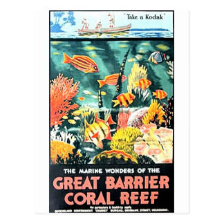 Great barrier coral reef postcard
