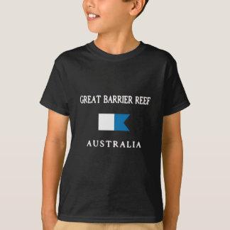 Great Barrier Reef Australia Alpha Dive Flag T-Shirt