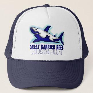 Great Barrier Reef Australia blue shark theme hat