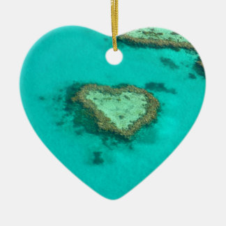 Great Barrier Reef, Australia heart coral Ceramic Ornament