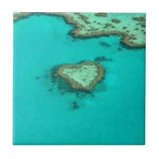 Great Barrier Reef, Australia heart coral Ceramic Tile