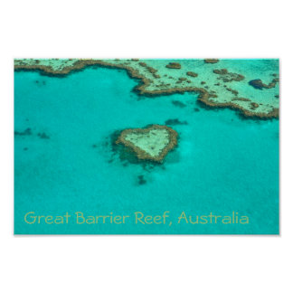 Great Barrier Reef, Australia heart coral Poster