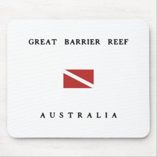 Great Barrier Reef Australia Scuba Dive Flag Mouse Pads