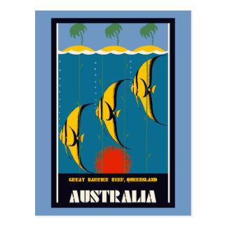 Great Barrier Reef Australia travel advertising Postcard